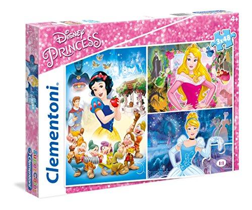 Clementoni - Disney Princesas - Set de Puzzles (3x48 Piezas)