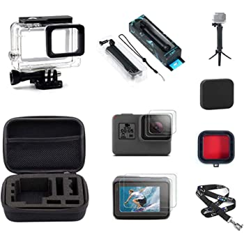 23cm x 17 Medium Size Action Camera Accessory Gopro Accessories Waterproof Carrying and Travel Case for GoPro New Hero //HERO6 //5//4 Session //4//3 U6000 and Other Sport Cameras Accessories //3//2 //1