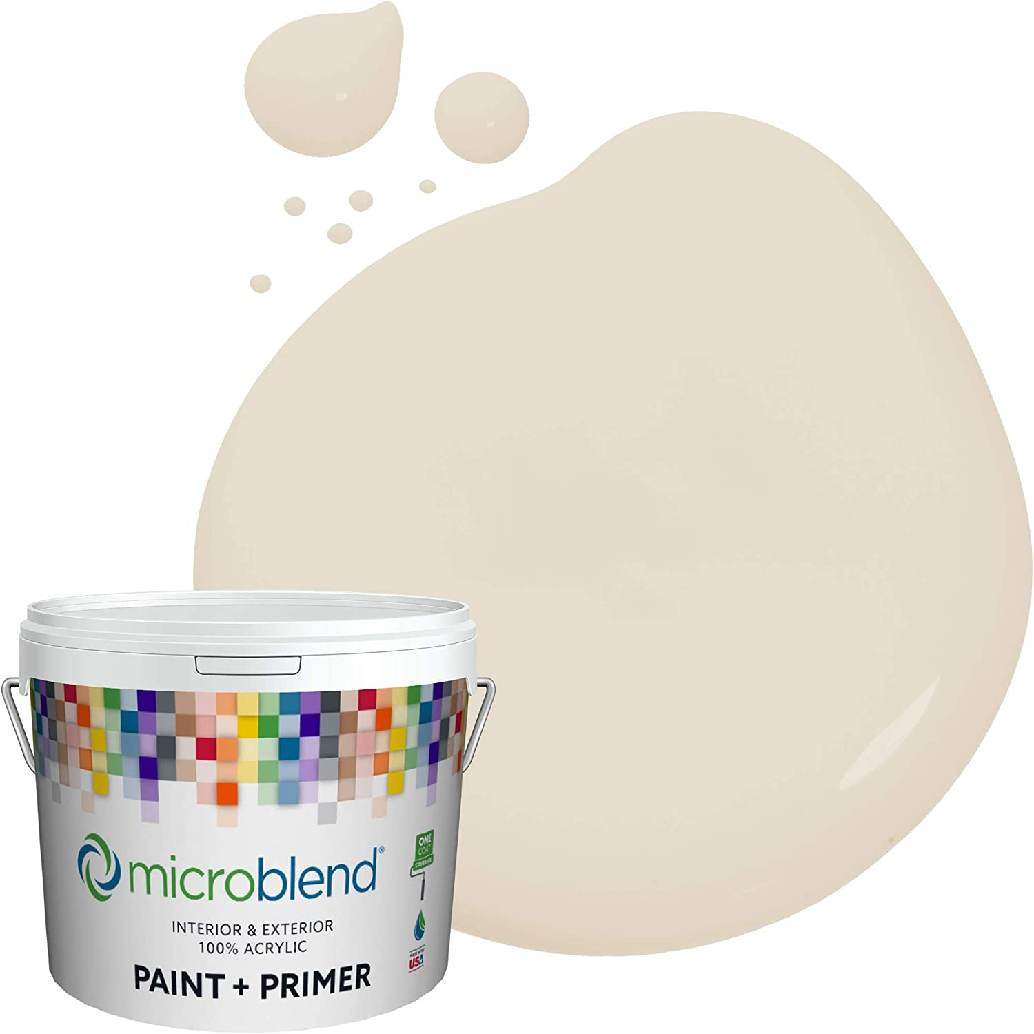 Microblend Interior Paint ご予約品 and Primer Sat Banister Beige - お買い得品