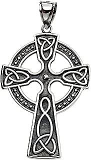 925 Sterling Silver Celtic Cross Trinity Knot Pendant