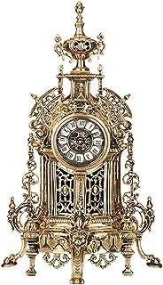 XinQing-Desk clock ساعة ديكور المنزل ساعة برونزية فلورنس ساعة المتضخم