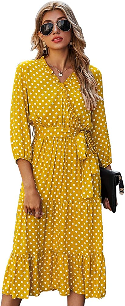 Nother Women's Polka Dots Swing Flared Casual A-Line Vintage Dress
