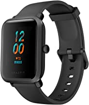 Amazfit Bip S Fitness Smartwatch, 40 Day Battery Life, 10 Sports Modes, Heart Rate, 1.28'' Always-On Display, Water Resistant, Built-in GPS, Carbon Black