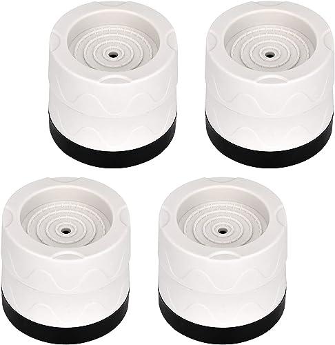 Queta 4Pcs Patins Anti Vibration Tampon Anti-vibration Lave Linge Universel Pieds Stabilisateur Piédestal pour Lave-L...