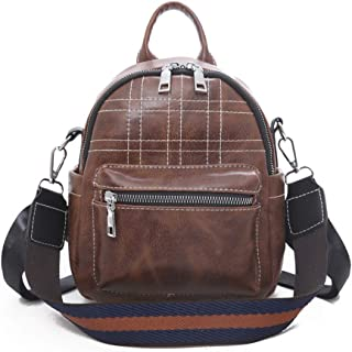GYYlucky European and American Style New Women's Backpacks Candy-Colored Simple Casual Women's Backpack (Color : Brown)
