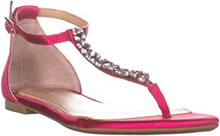 Badgley Mischka Jewel Gabby T Strap Flat Sandals, Champagne