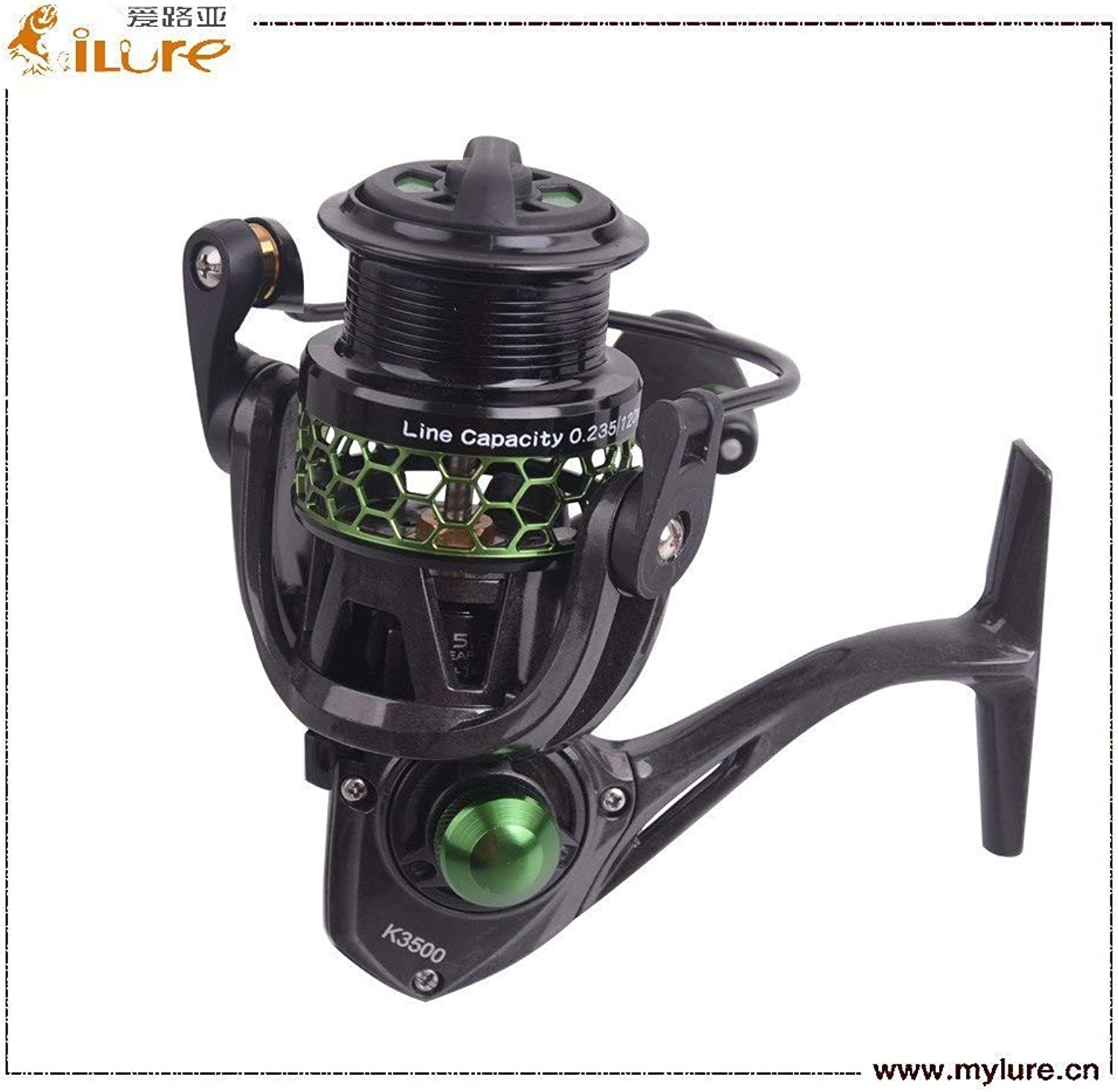 GEOPONICS iLure 2017new Mela Super Light Weight Graphit Body 10 Bearing Balls Spinning Reel Fishing Reel 5.2 1 carp Fishing Rod Reel Pesca color Purple Bearing Quantity 10 Spool Capacity 2500 Series