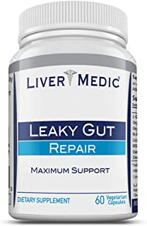 Leaky Gut Supports Repair by Liver Medic | Supports Relief of Heartburn. Bloating, Gas, Constipation, SIBO. Contains L-Glu...