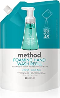 Method Foaming Hand Soap, Refill, Waterfall, 28 Fl Oz (Pack of 1)