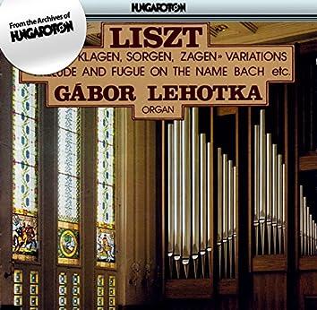 "Liszt: Variations On the Motif ""Weinen, Klagen, Sorgen, Zagen"" / Ave Maria / Prelude and Fugue"