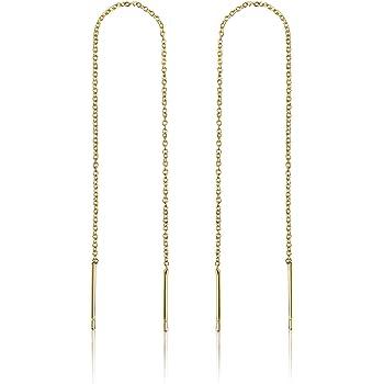 Gold Threader Earrings for Women   14k Gold Earrings for Women   Gold Dangle Earrings for Women   Dangly Earrings   Chain Earrings for Women   Long Earrings for Women   Gold Drop Earrings for Women