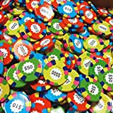 Chocolate Casino Poker Chips Assorted Coins - Las Vegas Casino Coins in Colorful Foil - 1 Pound