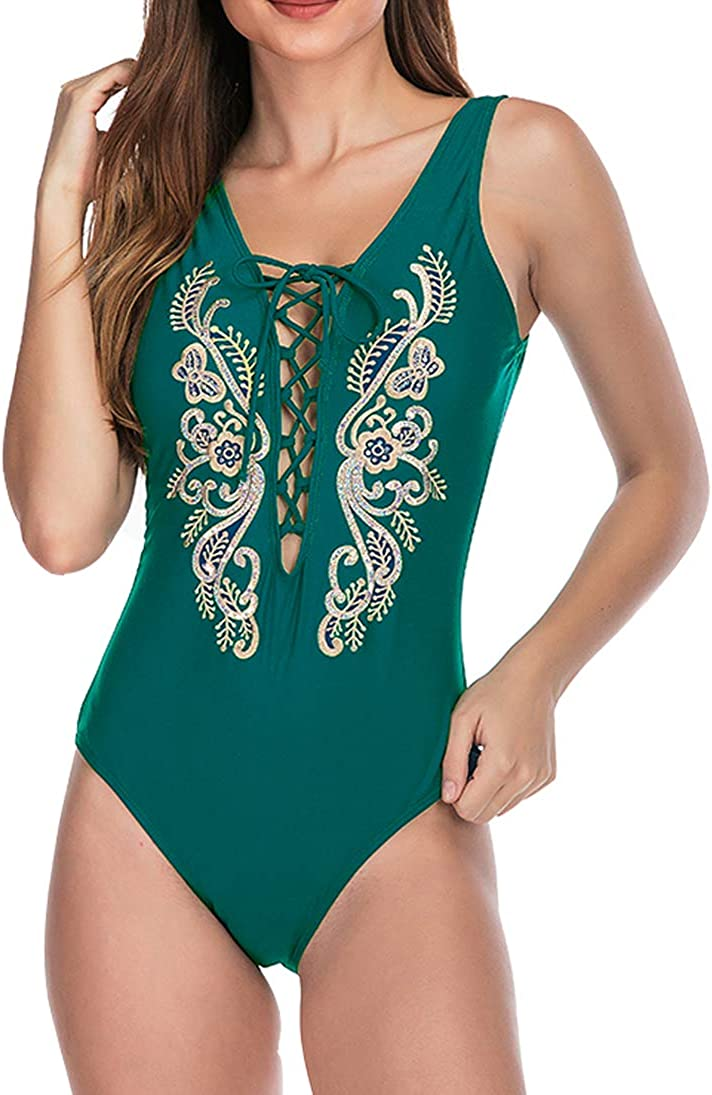 Eternatastic Womens Vintage Bikini Sets One Piece Swimsuits Beach Swimwear Bathing Suit