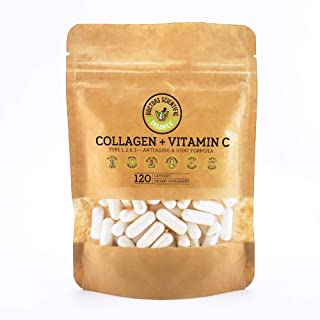 DSO Multi Collagen Pill with Vitamin C - Collagen Type 1,2,3 1,000mg for Bone Health - Anti-Aging Joint, Skin, Hair & Nail...