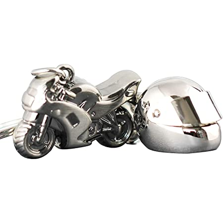 Color : Black Weisai Keychain Motorcycle Keychain Automatic Keyring Helmet Helmet Model Personality Motorcycle Keychain Give Gifts