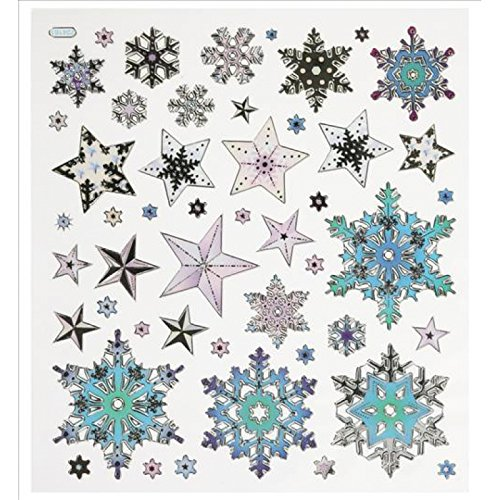 Hobby Design Sticker * Sterne Eiskristalle Winter * Aufkleber