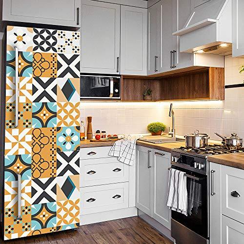 Ridewind Adhesivo autoadhesivo para decoración del hogar, diseño de flores árabes, para fondo de televisión, para cocina, baño, puerta, escalera/muebles, 20 x 99 x 7 unidades