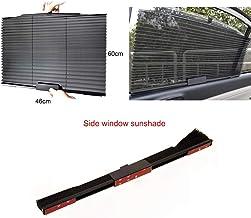Hadeyicar 46CM / 65CM / 70CM / 80CM Upgarde Retractbale SUV camión Carro Parabrisas Parasol Ventana Trasera protección Solar Protector Solar Cortina UV,Sidewindow60*46