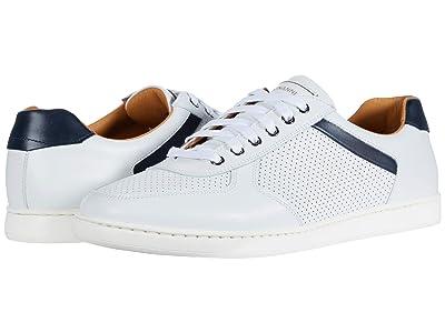 Magnanni Echo Lo Perf (White/Navy) Men