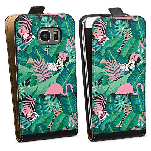DeinDesign Tasche kompatibel mit Samsung Galaxy S7 Edge Flip Case Hülle Minnie Mouse Disney Offizielles Lizenzprodukt