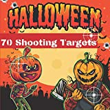 70 Halloween Shooting Targets: 8.5' x 8.5'   Monster Silhouette   Perfect for toy guns   pistol   airsoft ...  