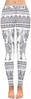 Eiffel Llama Peacock Capri Leggings Skinny Yoga Pants 2XS-5XL