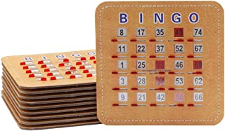GSE Games & Sports Expert 5 Ply Stitched Shutter Bingo Cards with Fingertip Quick Clear Shutter Slide