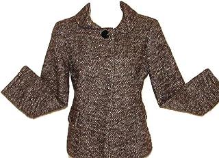 Banana Republic Cropped Wool Textured Jacket Women 2 Tall