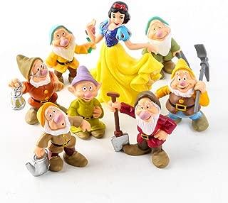 LQT Ltd Newest 8PCS/Lot Princess Snow White and The Seven Dwarfs Figure Toy 5-10CM Mini Model Doll for Kids