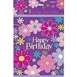 Unique Party 40283 - Pochettes Cadeau - Fête à thème Anniversaire Fleur - Paquet de 8