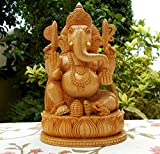 CraftVatika Dio indù Ganesha in Meditazione Dipinto a Mano Statua di Metallo Scultura Figurine Ganesh - Scrivania Decor Puja Diwali Regali