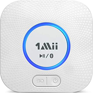 1Mii B06 Plus Bluetooth Receiver, HiFi Wireless Audio Adapter, Bluetooth Receiver with 3D Surround Low Latency for Home Mu...