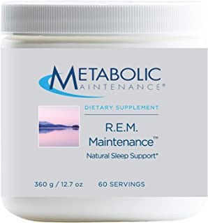 Metabolic Maintenance R.E.M. Maintenance Powder - Natural Sleep + Relaxation Support Supplement with Magnesium, Melatonin,...