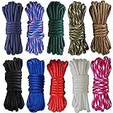 aufodara 10er Paracord Seil Schnüre Rundseil, Durchmesser 4mm Farbe Nylonseil für DIY Handgemachte