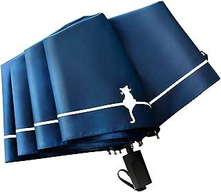 折りたたみ傘 軽量 晴雨兼用 耐風構造 UPF50+ UVカット 日傘 100遮光 遮熱 高耐久度 超撥水 梅雨対策 97cm広さ 8本傘骨 折り畳み傘 ケース 収納ポーチ付き (ブルー)