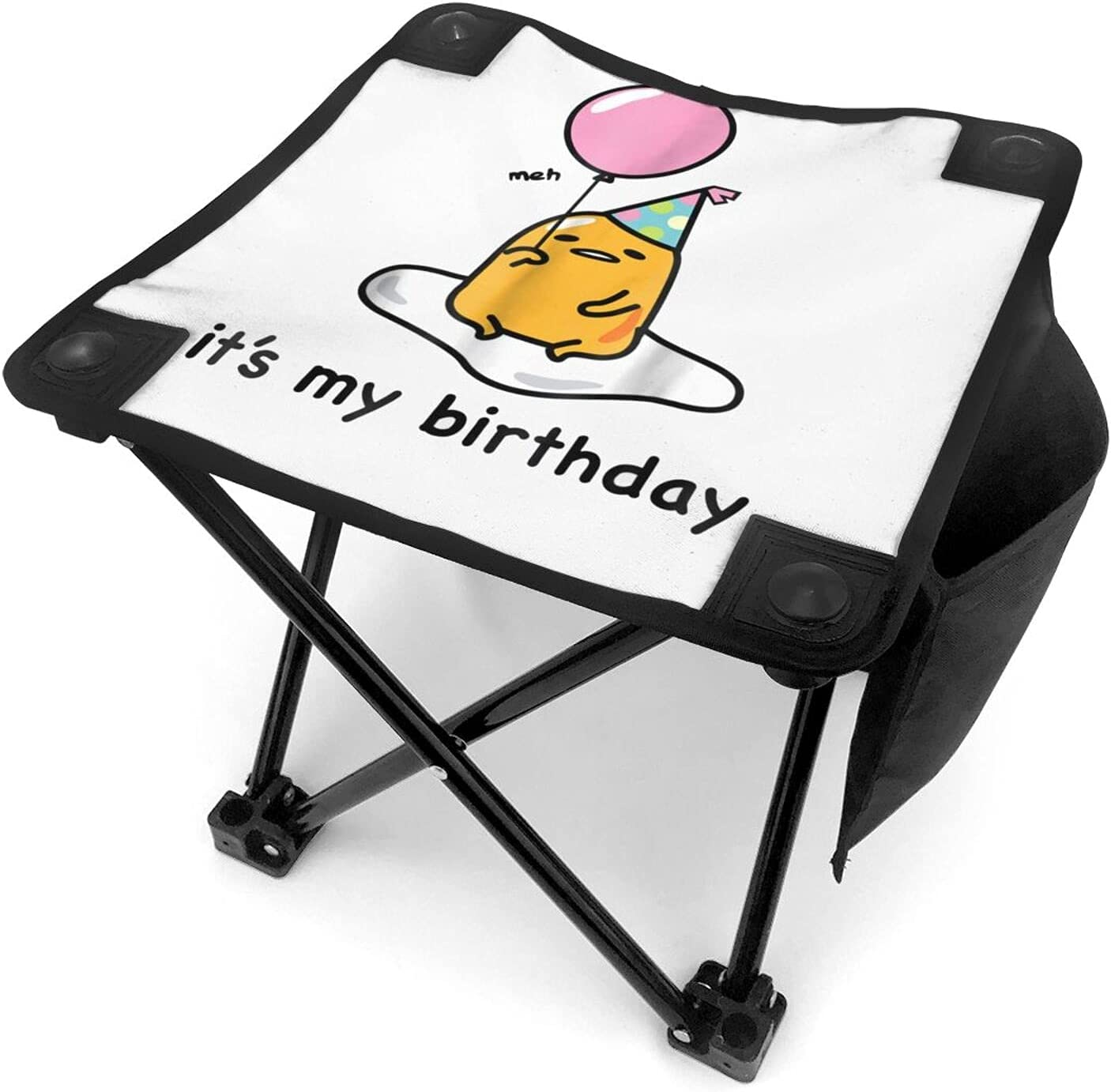 Gudetama Outdoor 55% OFF Folding Chair Stool O Be Used Ranking TOP14 for Can