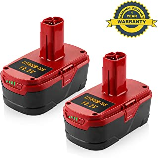 6.0Ah 19.2 Volt Replacement Battery for Craftsman C3 XCP Lithium Ion 130279005 1323903 130211004 11045 315.115410 315.11485 19.2V Power Tool Batteries 2Pack