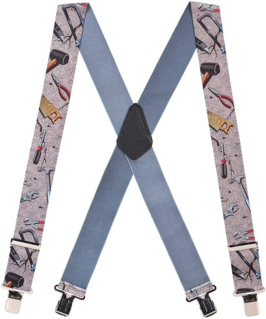 SuspenderStore Men's Hand Tools Tradesman Clip-End Novelty Suspenders