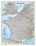 National Geographic: France, Belgium, and The Netherlands Classic Wall Map (23.5 x 30.25 inches) (National Geographic Reference Map)