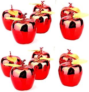 BinaryABC Christmas Xmas Tree Apple Ornaments Decoration,Christmas Tree Pendants,12Pcs (Red)