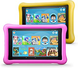 """Fire HD 8 Kids Edition Tablet 2-Pack, 8"""" HD Display, 32 GB, Kid-Proof Case - Pink/Yellow"""