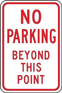 Accuform FRP124RA Engineer-Grade Reflective Aluminum Parking Sign, Legend