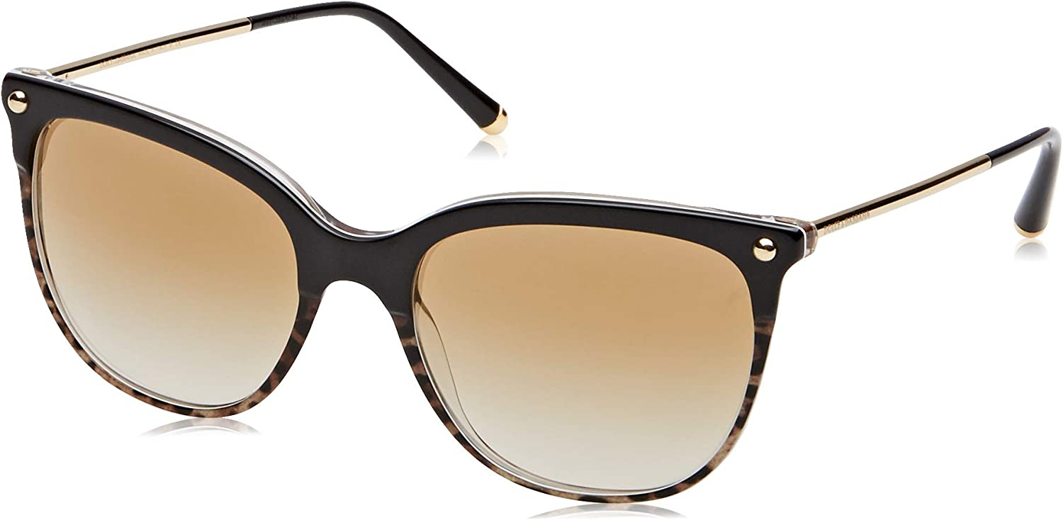 Ladies Sunglasses in Black and Leopard Print