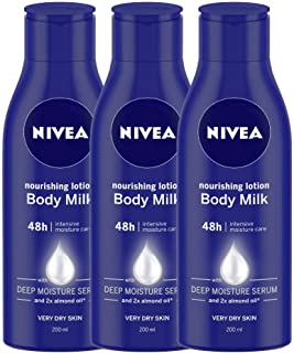 Nivea Nourishing Lotion Body Milk, 200ml (Pack of 3)