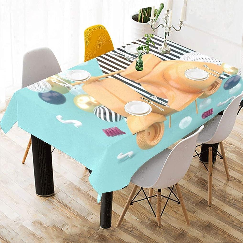 純度テレビを見る負LNJKD テーブルクロス 水色 テーブルカバー 食卓カバー コットンリネン 綿 撥水 耐熱 北欧 150*213cm 長方形