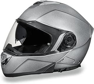 Daytona Helmets Motorcycle Modular Full Face Helmet Glide- Silver Metallic 100% DOT Approved
