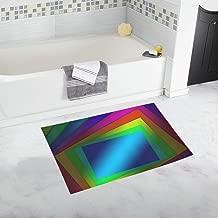 Concept Area Rectangle Contemporary Bright Custom Non-slip Bath Mat Rug Bath Doormat Floor Rug For Bathroom 20 X 32 Inch