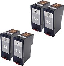 Karl Aiken 4x negro compatible cartuchos de tinta para Lexmark 1415para Lexmark Z2300Z2320X 2650X2600X 2670impresora