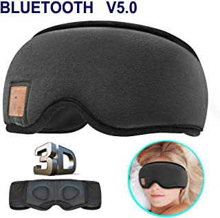 MOITA Sleep Mask Headphones, Bluetooth 3D Sleep Eye Mask Headphones with Built-in Speakers, Wireless Sleep Mask Music Play...