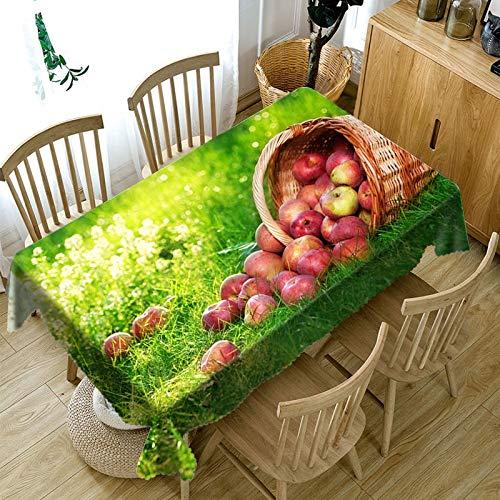 XXDD Mantel de patrón de Fruta de Mango/Cereza roja 3D Espeso Lavable a Prueba de Polvo Rectangular Mesa de Comedor variación de Mantel A9